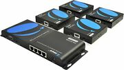 1x4 Hdmi Extender Splitter Over Single Cable Cat5/5e/6 1080p - Up To 400 Ft