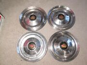 Vintage 1950and039s Chrysler Imperial Hubcups Set Of 4