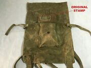 Original 100 Russian Soviet Red Army Soldier Canvas Backpack Veshmeshok Ussr