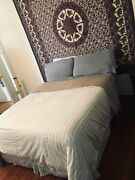 Full Size Memory Foam Bed With Coordinated Sheets, Comforter And Skirt. 250 Obo