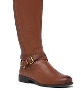 Naturalizer June Knee High Riding Boot - Wide Width Cinnamon Leather Sz 8 Nwob