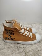Converse Lifeandrsquos Too Short To Waste Chuck Taylor Allstar Renew High Top Mens 9