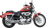 Paughco 7194sbs 1 3/4 Side-by-side Upsweep Fishtail Exhaust System Chrome