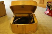 Wilcox Gay Model 400 Record Player Rare Blonde Wood Cabinet Limed Oak