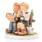 M I Hummel 5.5 Porcelain Hand-crafted Figurine And039tuning Upand039 New W/box Rare