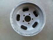 One Vintage Steel /aluminum Slot 14x6and039and039 Wheels / Rim Pattern 5 X 4 3/4and039and039