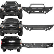 Hooke Road Front Bumper Or Rear Bumper Bars Assembly For Ford F-150 2009-2014