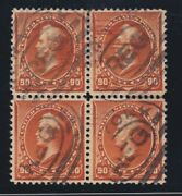 Us 229 90c Perry Used Block Of 4 Xf Smq 800