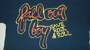 Incredible Fall Out Boy Paint-style Concert Shirt Save Rock And Roll Tour Fob Sz M