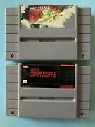 Battleclash And Super Nes Super Scope 6 Snes Cart Only Lot Tested Ships Fast