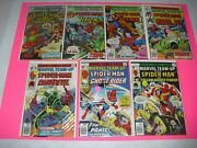Lot Of 7 Marvel Team Up 41 42 47 54 56 58 59 All Around Vf Or Better Run Set