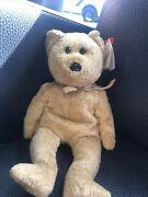 Ty Beanie Baby Cashew, Bear, Excellent Condition, 2000 Rare