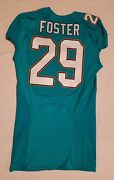 29 Arian Foster Of Miami Dolphins Nfl Locker Room Game Issued Jersey