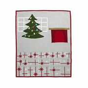 Crate And Barrel Fireplace Scene Advent Calendar Christmas Holiday Wool New