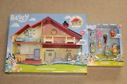 Bluey Lot Family Home +8 Pack Friends And Family Figures Lot House Bingo Bandit