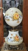 Fab Vintage Gwth Gone W The Wind Lamp Hp Roses Sgn Abco Rochester Usa Electric