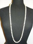 Angel Skin Coral Flapper Bead Necklace Opera Style