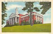 Wiley Hall, Administration Bldg, Emory And Henry College, Va Ca 1940s Postcard