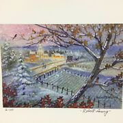 2 Art Print Pieces By Robert Laessig 1 And 2 Of 100 Landscape Over Looking Town