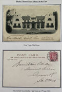 1903 Cape Town South Africa Rppc Postcard Cover To Scotland Rhodes House