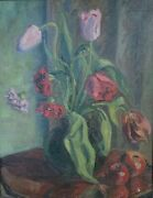 Painting Oil On Canvas On Cardboard Signed Beckmann And03934