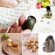 Accessories Diy Crafts Needle Thimble Antique Ring Metal Finger Protector