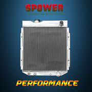 At 52mm For Ford Mustang Falcon Comet Mercury V8 63-66 3row Aluminum Radiator