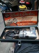 Vintage Metal Black And Decker Handy Electric Fixit Toolbox With Drill