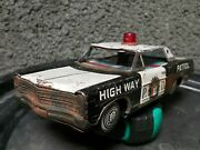 Vintage Bandai Ford Highway Patrol Police Car Tin Toy Friction Works For Parts