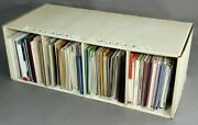 Collection Of Approximately 65 Paper Sample Books In Custom Cardboard Anchor