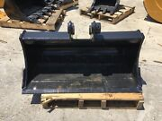 New 36 Ditch Cleaning Bucket For A Takeuchi Tb125 With Coupler Pins