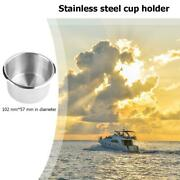 1pc Stainless Steel Cup Drinking Holder For Car Truck Camper Barge Marine Boat