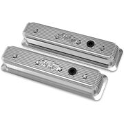 241-248 Holley Valve Covers Set Of 2 New Polished For Chevy Express Van Pair
