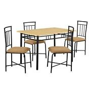 Dining Room Table Set Modern Farmhouse Furniture Table And 4 Chairs 5-piece New