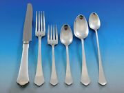 Antique By Wallace Sterling Silver Flatware Set Service Dinner 43 Pieces