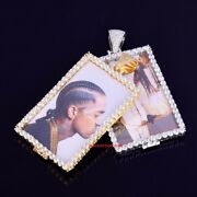 38mm Custom Picture Pendant Made To Order 925 Sterling Silver Pendant Rsg878