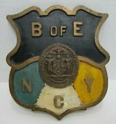 Boe Nyc Board Of Education New York City Old Ny Plaque Sign Plate Brass Bronze