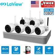 Laview Nvr Hd 1080p W/ 6 Bullet Cameras 8 Ch Wireless Security Ip Camera System