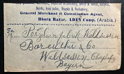 1925 Aden Camp General Merchant Commercial Cover To Waldsassen Germany