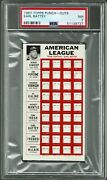 1967 Topps Punch Outs Earl Battey Psa 7 Pop 2 None Higher