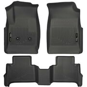 Set-h2118111 Husky Liners Floor Mats Front New Black For Chevy Colorado Canyon