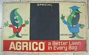 Agrico Gayblade And Professor Lawn Sign Original Old Feed Seed Store Advertising