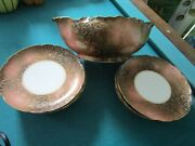 1880s Limoges Bowl Brown And Gold And Plates Pick 1
