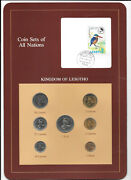 Coin Sets Of All Nations Lesotho 1 Sente - 1 Loti 1979-1983 Unc