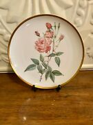 1980and039s The Hamilton Collection China Rose Plate By Pierre Joseph Redoulegermany