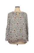 Nwt Lucky Brand Boho Peasant Blouse Tunic Top Embroidered Plus Size 1x 99