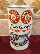 Iron City Pittsburg Penguins Collector Can Pittsburg Brewing 1975 With Tab Empty