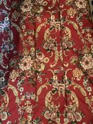 Danielle Marseilles Red Floral Twin Comforter Christmas