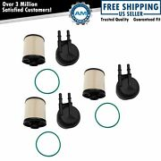 Ecogard 3 Piece Replacement Inline Cartridge Fuel Filter Kit For Ford Super Duty