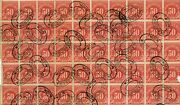 Us Postage Due 50 Cent Stamp Sheet 10x5 Attached 50 Total Stamped Dearborn Mi